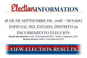"""The ACLU has filed a complaint with Bexar County, alleging that its online Spanish voting materials were the result of inaccurate and jumbled Google Translate compilations. Above, ?""""escurrimiento elección,?"""" was supposed to mean ?""""runoff election,?"""" but it instead loosely translates to ?""""election drainage?"""" or ?""""election water leak.?"""""""