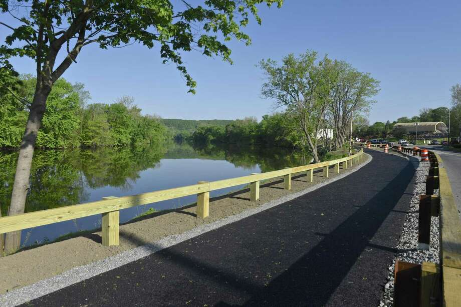 File photo of a section of the Young's Field Riverwalk. Photo: H John Voorhees III / Hearst Connecticut Media / The News-Times