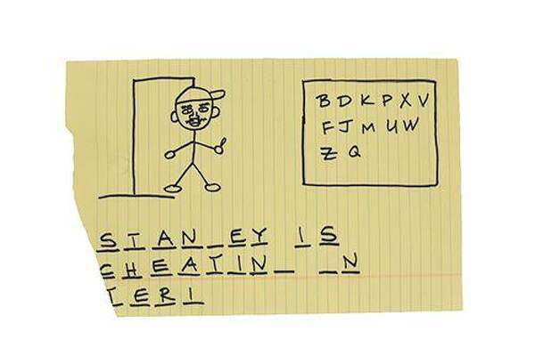 "Items from the hit TV show ""The Office"" go up for auction. Pictured: Michael's hangman about Stanley's affair"