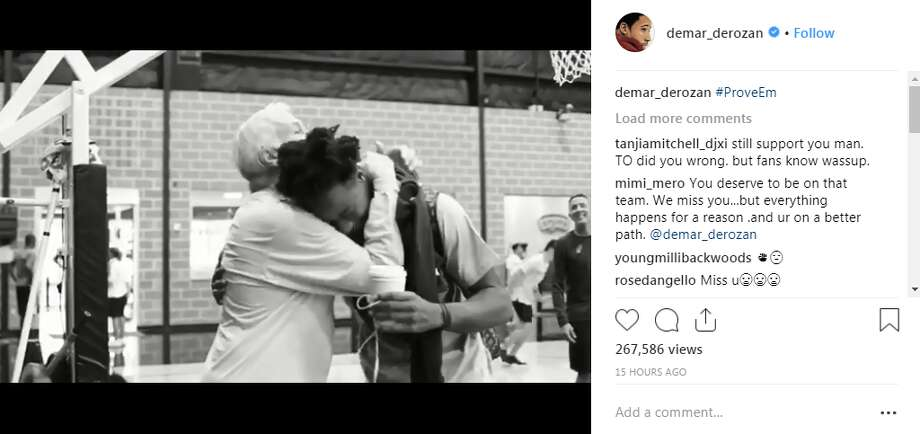 DeMar DeRozan posted two mini documentaries to his recently scrubbed  Instagram account on Monday night, hours following NBA Media Day,  showing his transition from Canada to San Antonio in August. Photo: Instagram Screengrab
