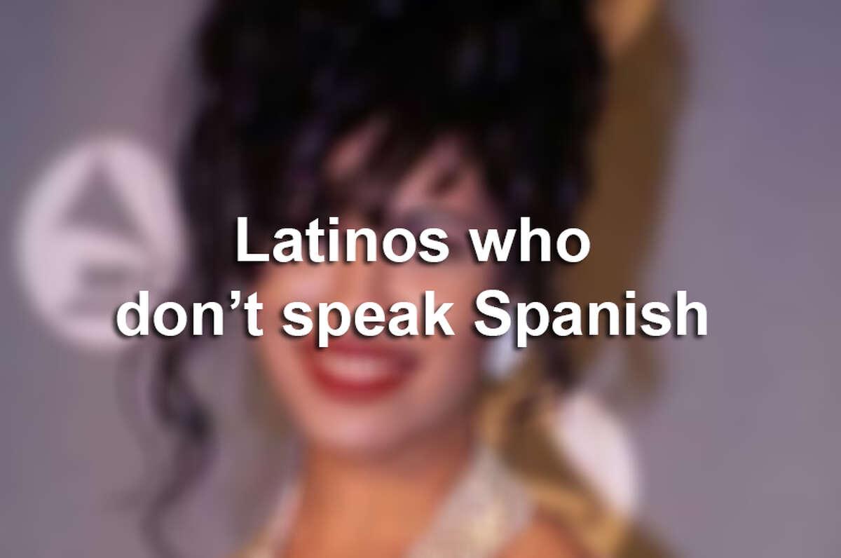 Latinos who don't speak Spanish.
