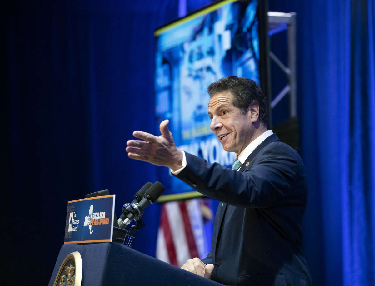 September 25, 2018 - Bolton Landing, NY - Governor Andrew M. Cuomo delivers remarks at the annual meeting of the Business Council of New York State. (Mike Groll/Office of Governor Andrew M. Cuomo)