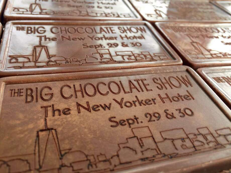 Noteworthy Chocolates of Bethel has been asked to create chocolate engraved business cards to hand out during the press preview later this week at the Big Chocolate Show in New York City. Photo: Noteworthy Chocolates / Contributed Photo / Connecticut Post contributed