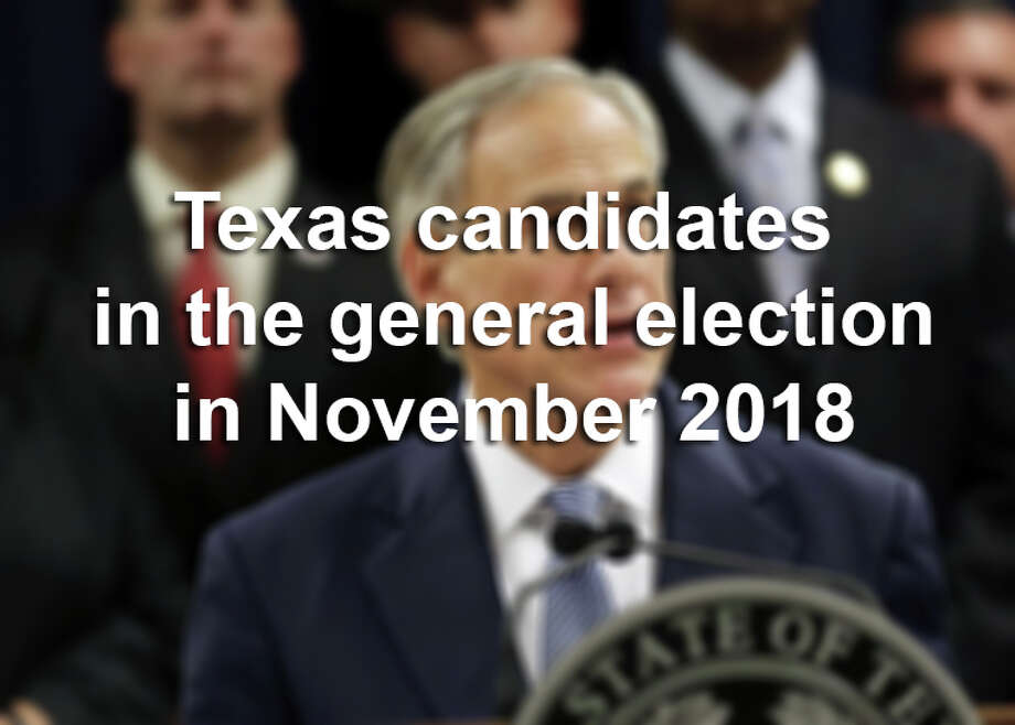 Click ahead to see the Texas candidates who won the March 2018 primary runoff and are running for office in the November general election. Photo: Marie D. De Jesus/Associated Press
