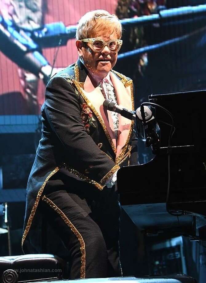 """Sir Elton John is shown performing onstage at the XL Center in Hartford during his Farewell Yellow Brick Road concert tour Sept. 19. All good things must come to an end, and that includes the Rocket Man's career. After more than 50 years touring and entertaining fans with his powerful music, Elton John is finally hanging up his boots and saying goodbye. The Farewell Yellow Brick Road"""" tour kicked off Sept. 8 in the United States and will be moving on to other parts world. All told, his final tour will span five continents before concluding in 2021. To learn more on Elton John's final tour you can visit www.eltonjohn.com Photo: John Atashian / Contributed Photo /"""