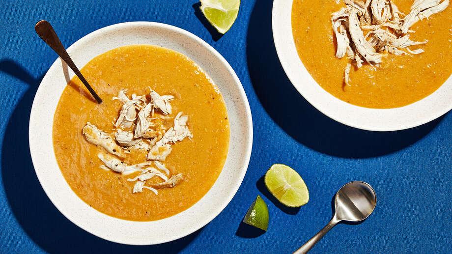 A Chicken Tortilla Soup That S Creamy Smooth San Antonio