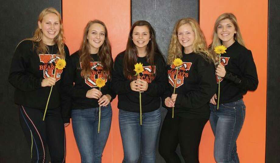 The following candidates are members of the 2018 Ubly Homecoming Court. They are (from left): Ashley Puvalowski, Jaelynn Burton, Payten Heleski, Mikaela Van Erp and Cheyenne Janik. (Submitted Photo)