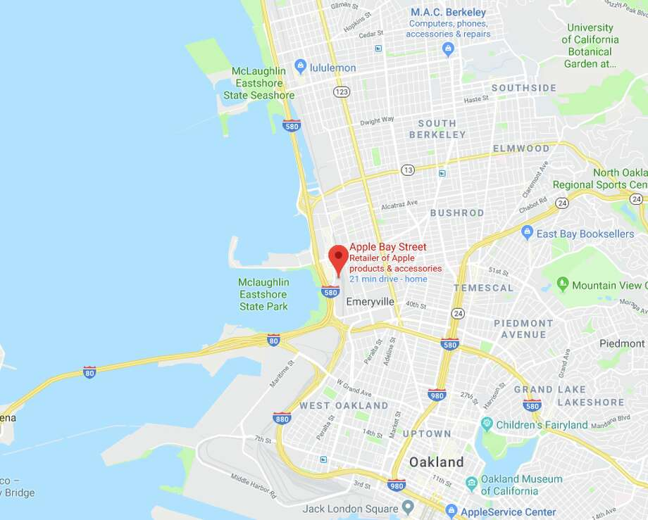 Apple Emeryville — Robbed Aug. 25 — Total amount of merchandise stolen not immediately available Photo: Google Maps