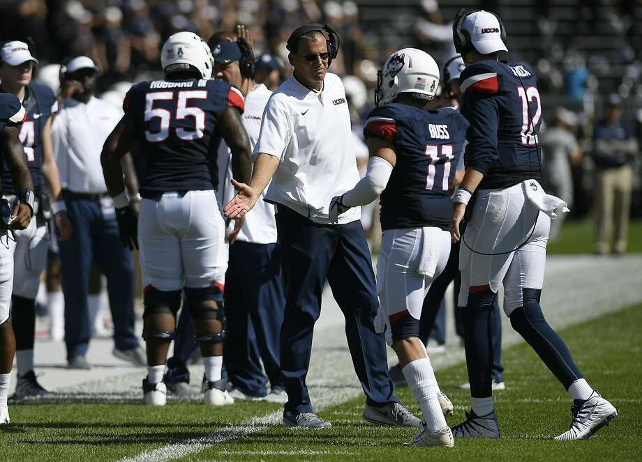 Connecticut head coach Randy Edsall during an NCAA college football game Saturday, Sept. 15, 2018, in East Hartford, Conn. (AP Photo/Jessica Hill) Photo: Jessica Hill, Associated Press