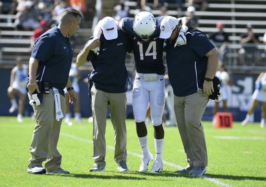 UConn defensive back Tahj Herring-Wilson (14) will miss his second straight game due to injury. Photo: Jessica Hill / Associated Press / Copyright 2018. The Associated Press. All rights reserved.