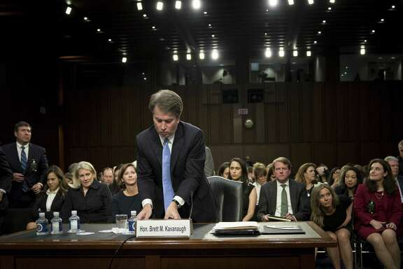 Judge Brett Kavanaugh, President Donald Trump's nominee for the Supreme Court, after his confirmation hearing before the Senate Judiciary Committee on Capitol Hill Sept. 6. Readers debate the charges leveled against him.