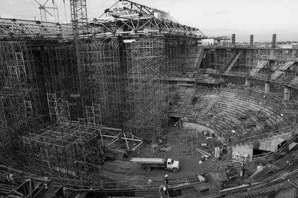 the San Jose Arena, also known as the Shark Tank under construction, December 3, 1992