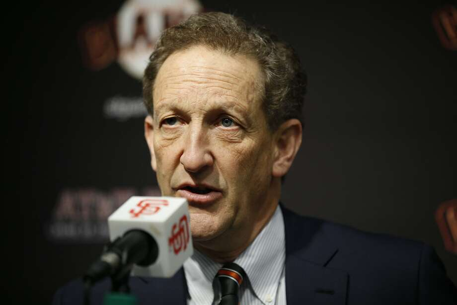 San Francisco Giants CEO Larry Baer during a news conference at AT&T Park, Friday, Jan. 19, 2018, in San Francisco, Calif. The S.F. Giants introduced Evan Longoria as their new third baseman. Photo: Santiago Mejia / The Chronicle
