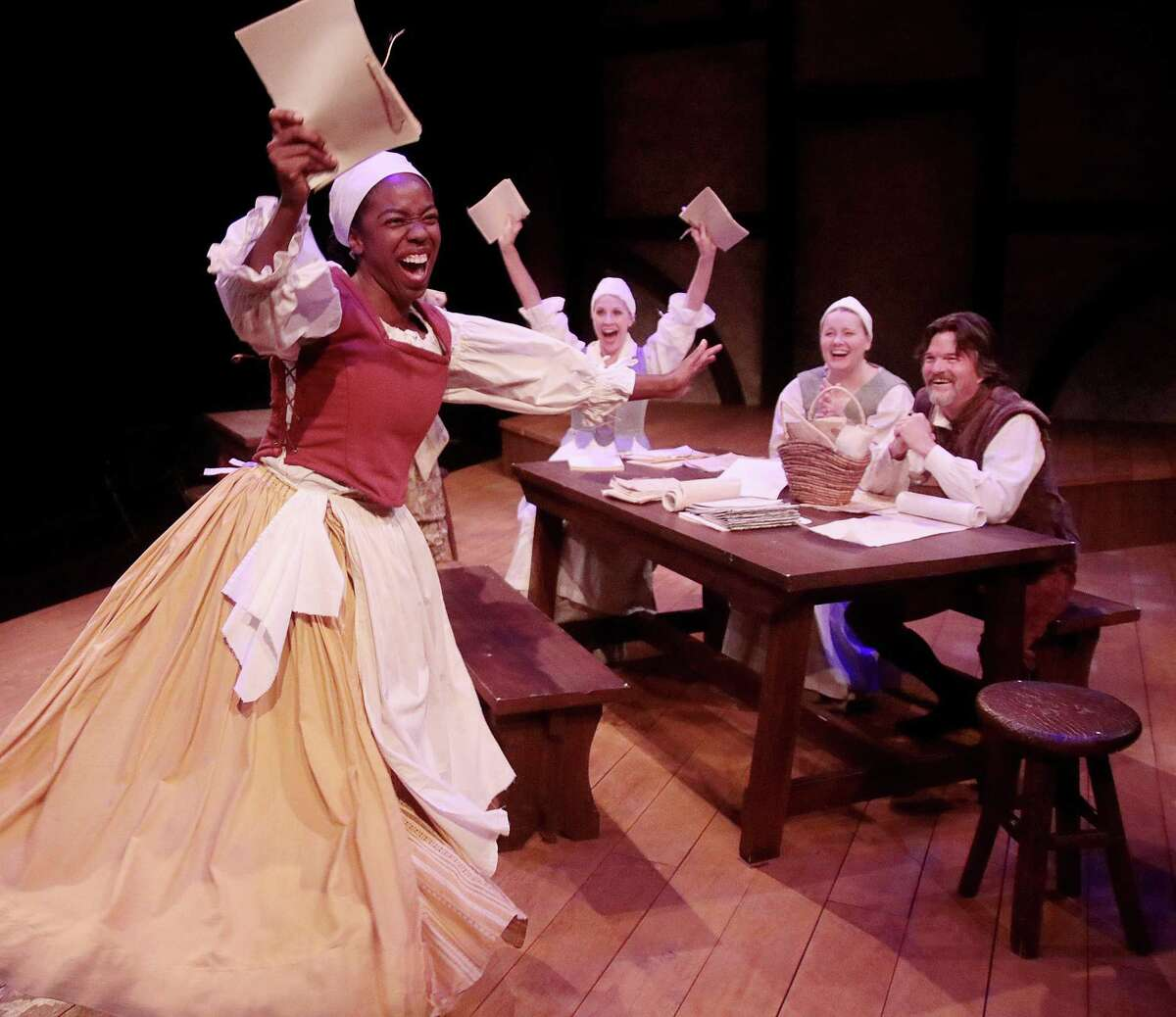 """Brittny Bush and the cast of the """"The Book of Will,"""" Main Street Theater, 2018"""