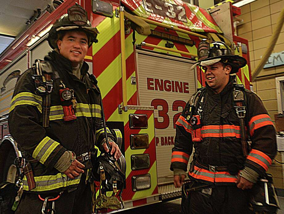 South Fire District in Middletown will receive $145,381 from FEMA for an Assistance to Firefighters Grant, which will be used to purchase state-of-the-art self-contained breathing apparatus. Shown here are Lt. Nicholas Bozym and Firefighter Jason Hurlburt. The station is also waiting for approval to launch a long overdue renovation and expansion project courtesy of a $1 million state grant. Photo: Cassandra Day / Hearst Connecticut Media