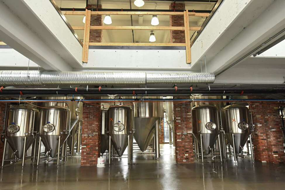 Fermentation tanks at Frog Alley Brewing Company in the new Mill Artisan District on Tuesday, Sept. 25, 2018 in Schenectady, N.Y. (Lori Van Buren/Times Union)