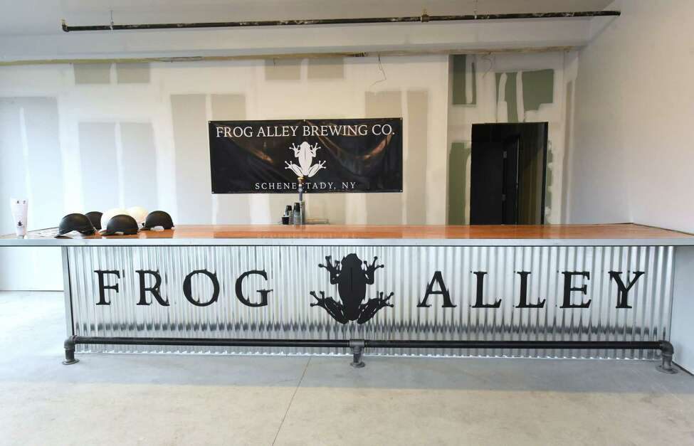 Interior of Frog Alley Brewing Company in the new Mill Artisan District on Tuesday, Sept. 25, 2018 in Schenectady, N.Y. The brewery is still under construction. (Lori Van Buren/Times Union)