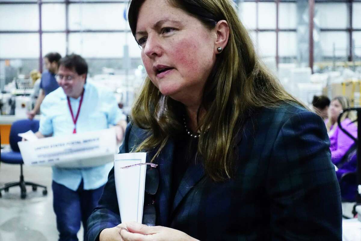 Maureen O'Brien, the new president and CEO of New York State Industries for the Disabled (NYSID), talks about the benefits of employing those with a disability during a tour of the Center for Disability Services mail fulfillment center on Tuesday, Sept. 25, 2018, in Albany, N.Y. (Paul Buckowski/Times Union)