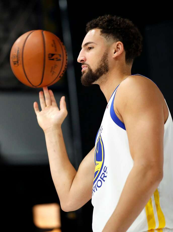 Klay Thompson during Golden State Warriors' Media Day in Oakland, Calif. on Monday, September 24, 2018. Photo: Scott Strazzante, The Chronicle