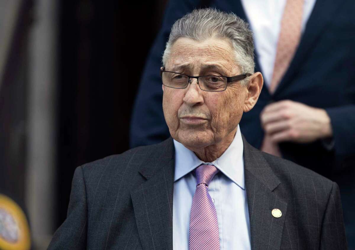 FILE - In this May 11, 2018 file photo, former New York Assembly Speaker Sheldon Silver leaves federal court in New York. Silver, one of the most powerful politicians in New York for two decades, is scheduled to be sentenced to prison time on Friday, July 27, in the corruption case that ended his career. The same federal judge previously sentenced the former New York Assembly Speaker to 12 years imprisonment for the same crime, but the punishment was thrown out when an appeals court ordered a retrial. (AP Photo/Mary Altaffer, File)