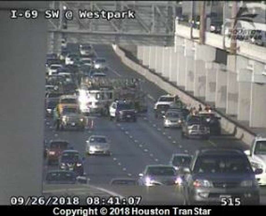 Lanes reopen after crash on inbound Southwest Freeway at