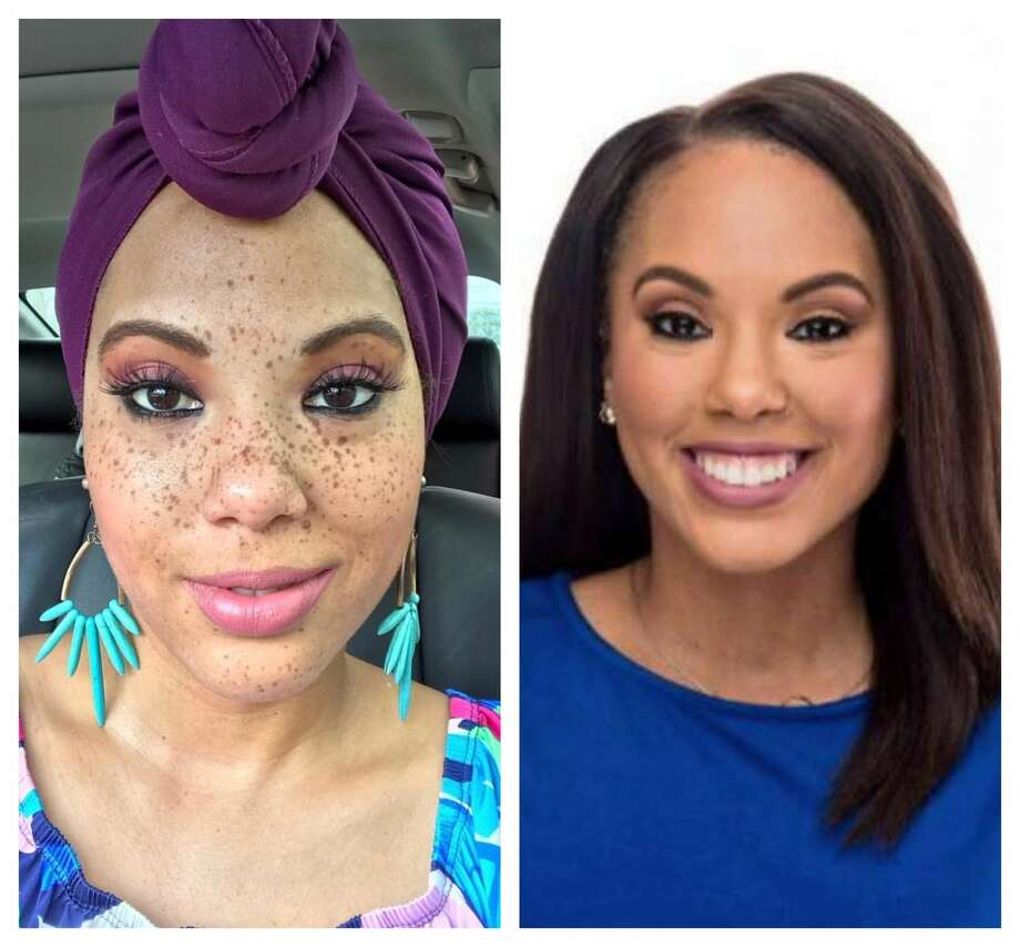 Erica Simon, an anchor with ABC 13, shows her looks on air and off.