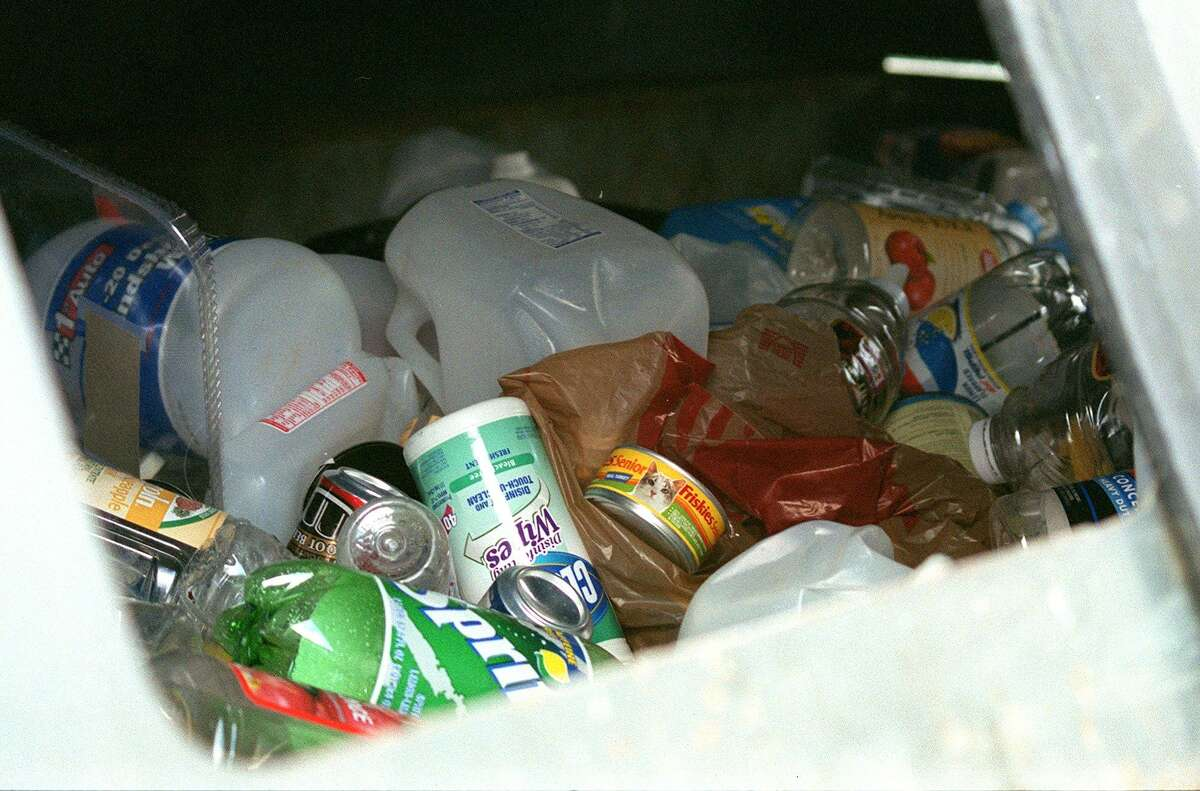 Recyclables at New Milford Recycling Center.