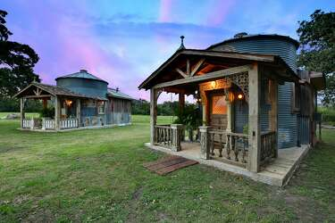 Surreal country home made from antiques salvaged from around the