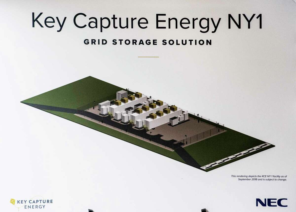 Artists representation of the the new utility-scale battery storage project Key Capture Energy NY1 Wednesday Sept.26, 2018 in Stillwater, N.Y. (Skip Dickstein/Times Union)