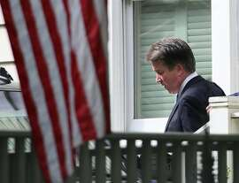 WASHINGTON, DC - SEPTEMBER 26: U.S. Supreme Court nominee Judge Brett Kavanaugh leaves his home September 26, 2018 in Chevy Chase, Maryland. Kavanaugh is scheduled to appear again before the Senate Judiciary Committee on Thursday to respond to the allegation of sexual assault by accuser Christine Blasey Ford.  (Photo by Mark Wilson/Getty Images) CORRECTED VERSION -