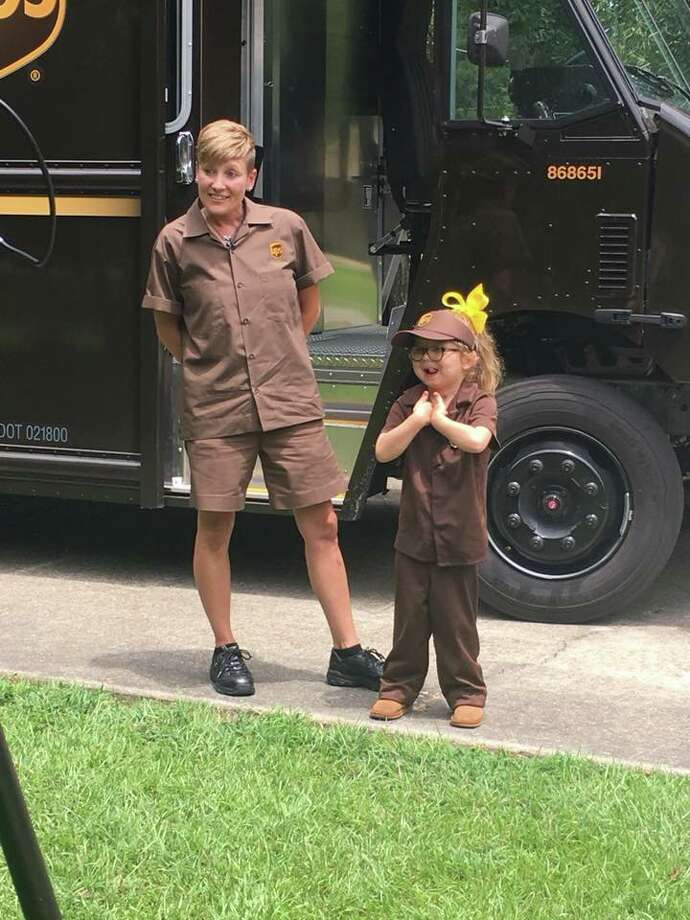 """The Jasper Newsboy teamed up with local """"professionals"""" to give readers a glimpse into the future of Jasper County! Parson Blue, 6, UPS Driver Photo: Photo:submitted"""