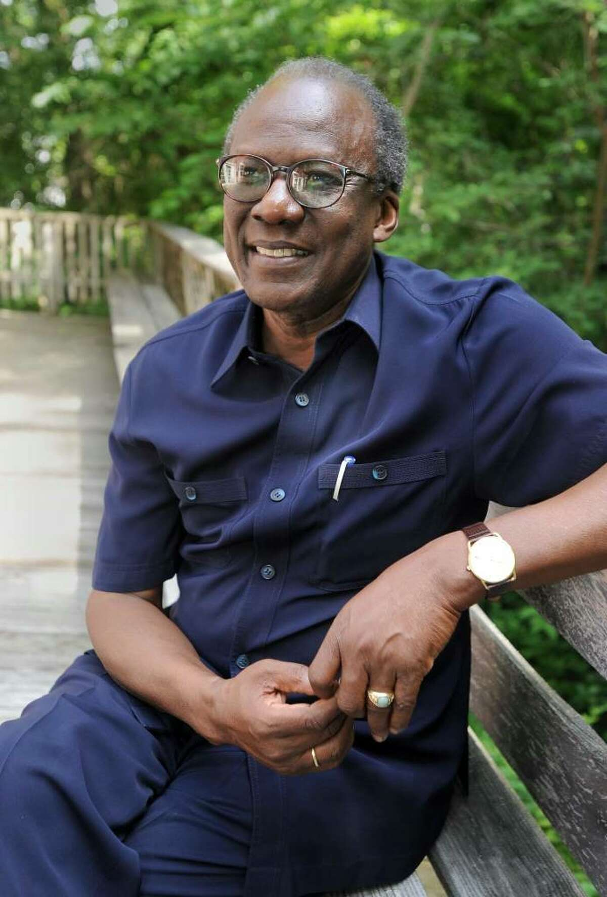 Francis G. Okelo of New Milford is a former ambassador and United Nationss pecial envoy. He will be speaking at the Merryall Center for the Arts in New Milford on July 24. Photo Taken Monday, July 12, 2010.