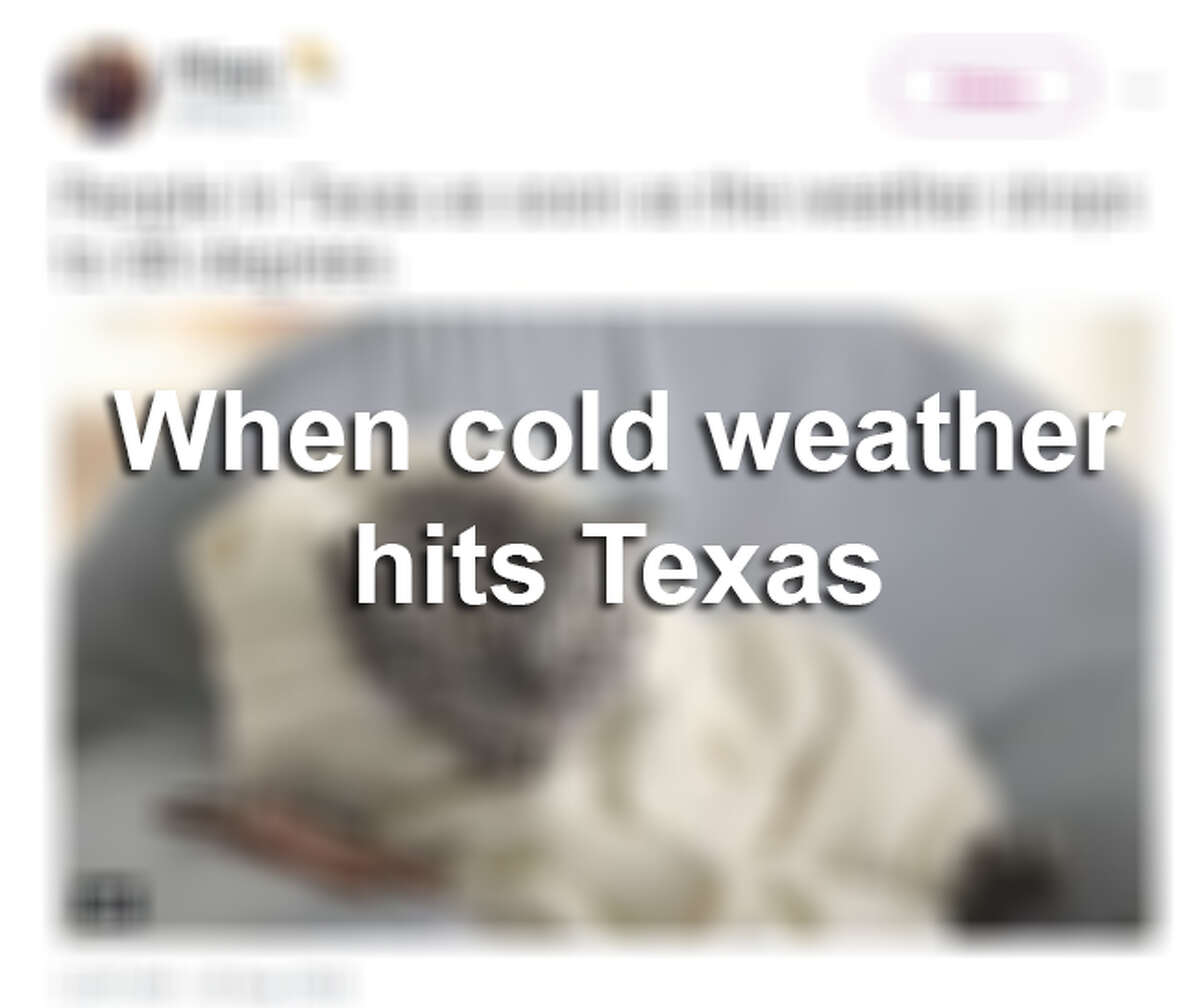 Social media shows how Texans react to cold weather.