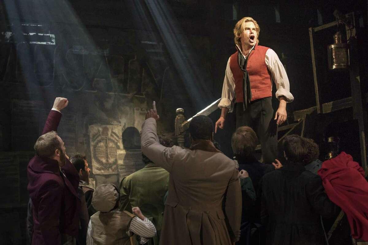 """Matt Shingledecker as Enjolras in the new national tour of """"Les Misérables."""""""