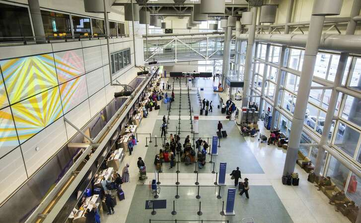 Part of the departures lobby at Terminal D at Bush Intercontinental Airport, Tuesday, March 20, 2018, in Houston. City Council approved an agreement that will release ATU Duty Free from its obligations in Terminal D. The city and Houston Airport System will be seeking a new duty-free operator.( Mark Mulligan / Houston Chronicle )