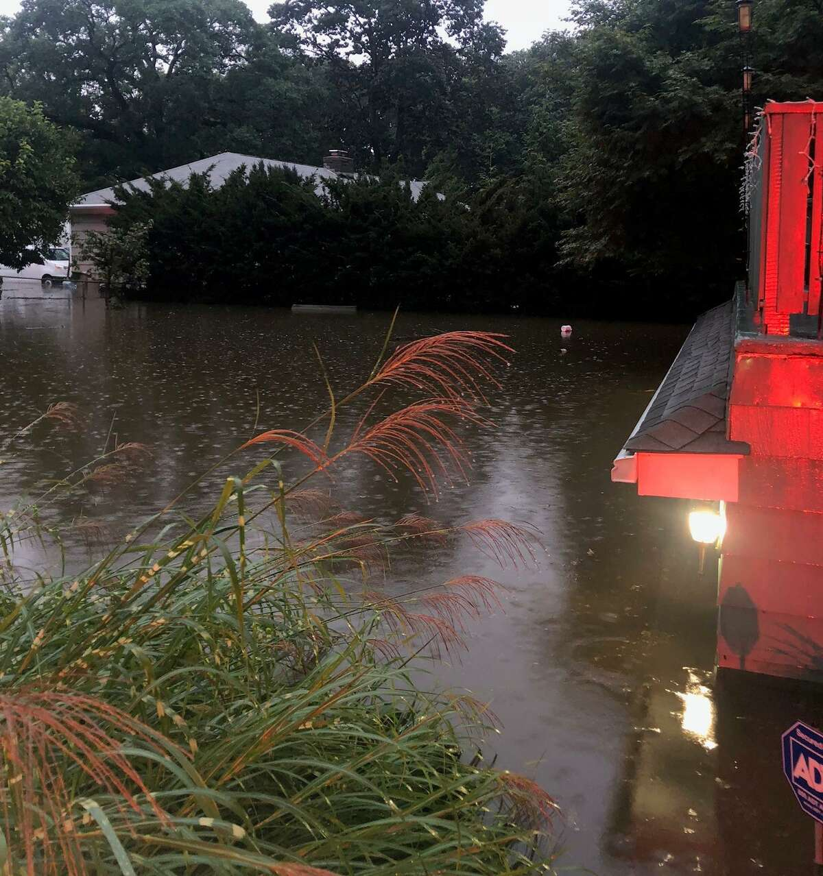 This photograph supplied by the Fire Department shows some of the flooding residents were dealing with Tuesday.