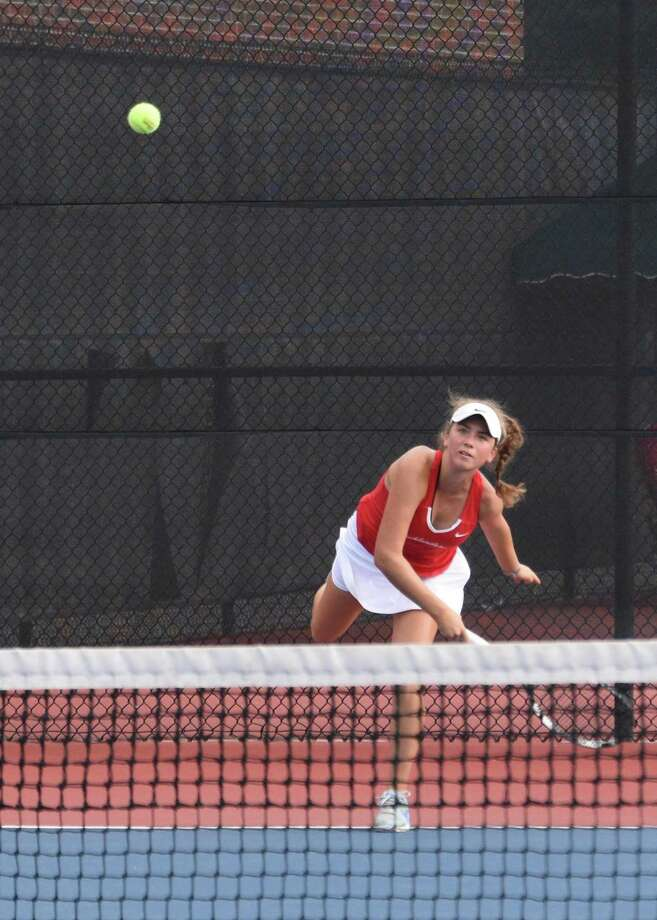 Alexandra Dumitrescu eyes a ball during The Woodlands' sweep of Conroe on Tuesday, Sept. 25 in District 15-6A play. Photo: Submitted By Tracy Kuglen / Submitted By Tracy Kuglen