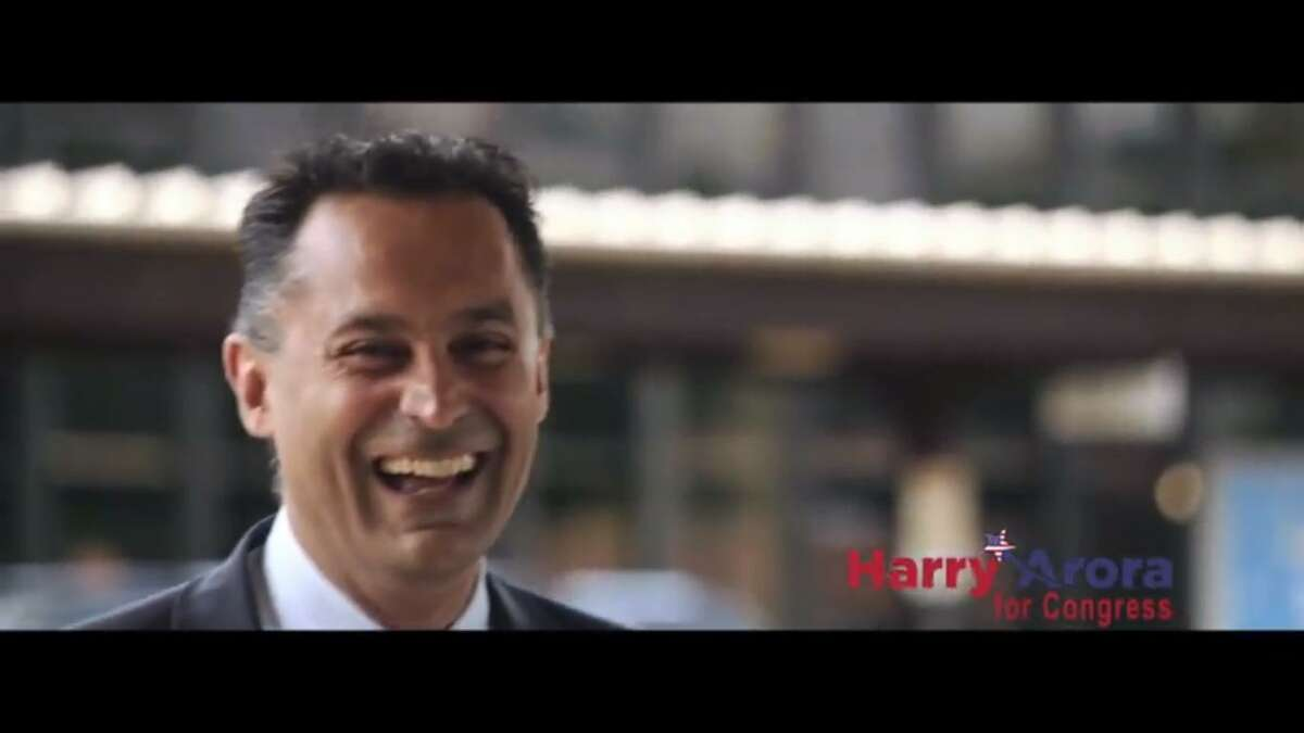 An image from Harry Arora ad in his campaign in the of Greenwich is running for Congress in Connecticut's 4th District.
