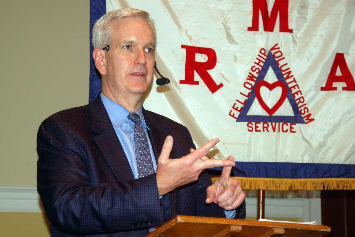 Connecticut State Supreme Court Justice Andrew McDonald sounds the alarm about judicial independence, saying it is under attack at a federal level and across the country during his talk Wednesday to the Retired Men's Association of Greenwich.