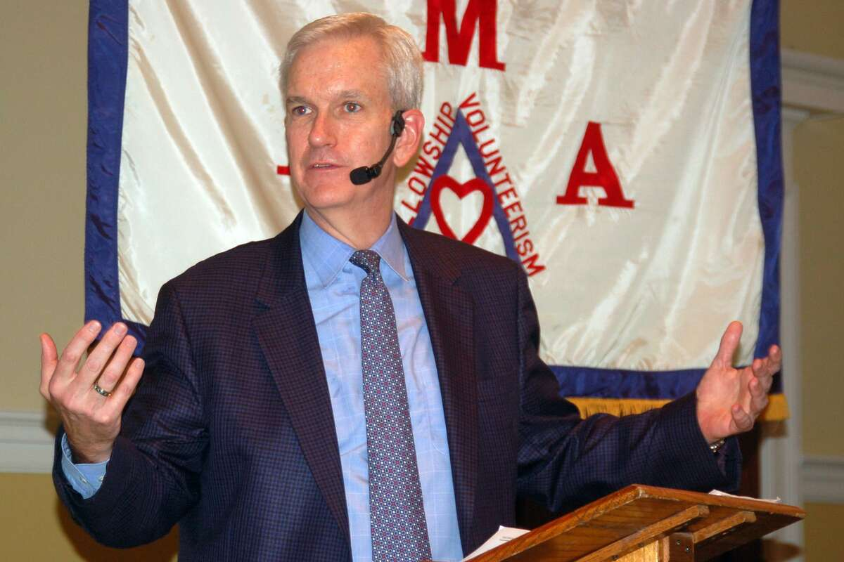 Connecticut State Supreme Court Justice Andrew McDonald sounds the alarm about judicial independence, saying it is under attack at a federal level and across the country. He spoke Wednesday to the Retired Men's Association of Greenwich.