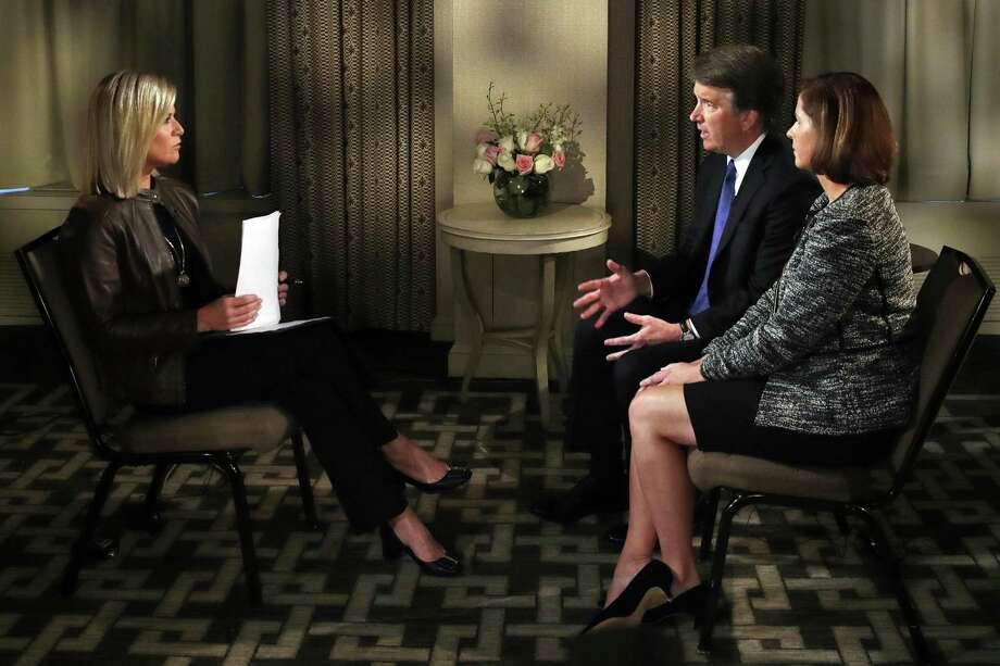 "Brett Kavanaugh and his wife, Ashley Estes Kavanaugh, push back against accuastions during a Fox News interview. ""I know Brett. I've known him for 17 years,"" she said. But that's hardly his whole life or the whole Brett. Photo: Jacquelyn Martin / Associated Press / Copyright 2018 The Associated Press. All rights reserved."