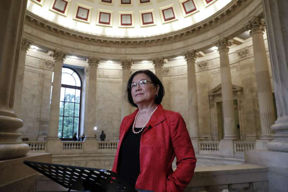 Sen. Mazie Hirono, D-Hawaii, prepares for a television news interview on President Donald Trump's embattled Supreme Court nominee, Brett Kavanaugh, on Capitol Hill on Tuesday. Her arguments against Kavanaugh illustrate the no-holds-barred political climate. Photo: J. Scott Applewhite /Associated Press / Copyright 2018 The Associated Press. All rights reserved