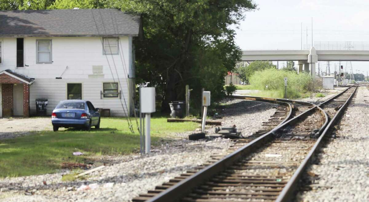 Train tracks run close to a residence between Canal and Harrisburg in Houston's East End on Wednesday, Sept. 26, 2018 in Houston.