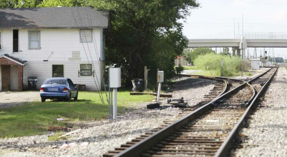 Train tracks run close to a residence between Canal and Harrisburg in Houston's East End on Wednesday, Sept. 26, 2018 in Houston. Photo: Elizabeth Conley, Houston Chronicle / Staff Photographer / © 2018 Houston Chronicle