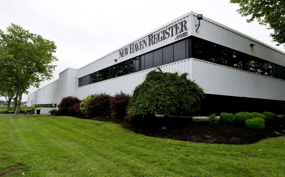 The current New Haven Register Building on Gando Drive.