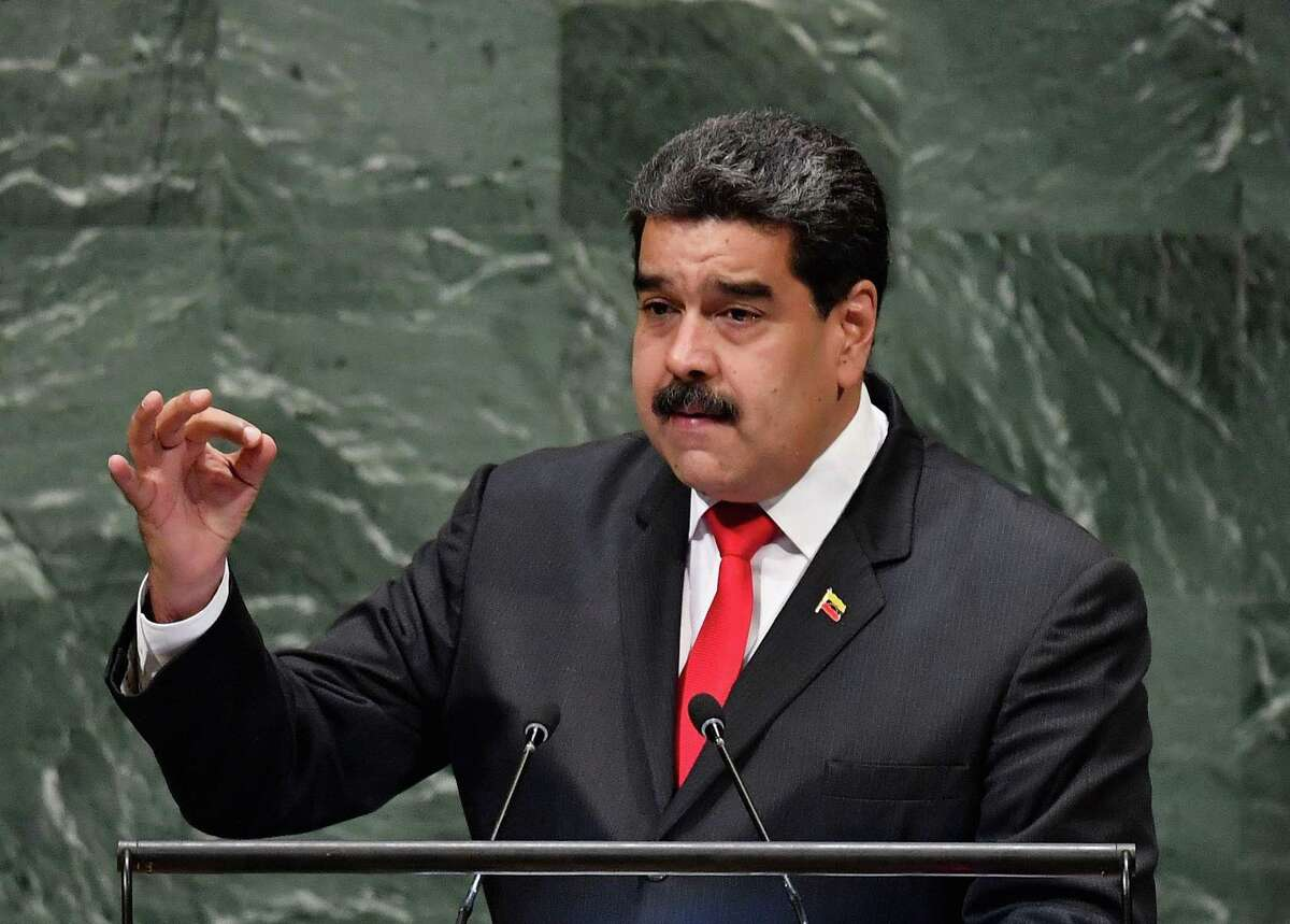 Venezuela's President Nicolas Maduro addresses the General Debate of the 73rd session of the General Assembly at the United Nations in New York on Wednesday.