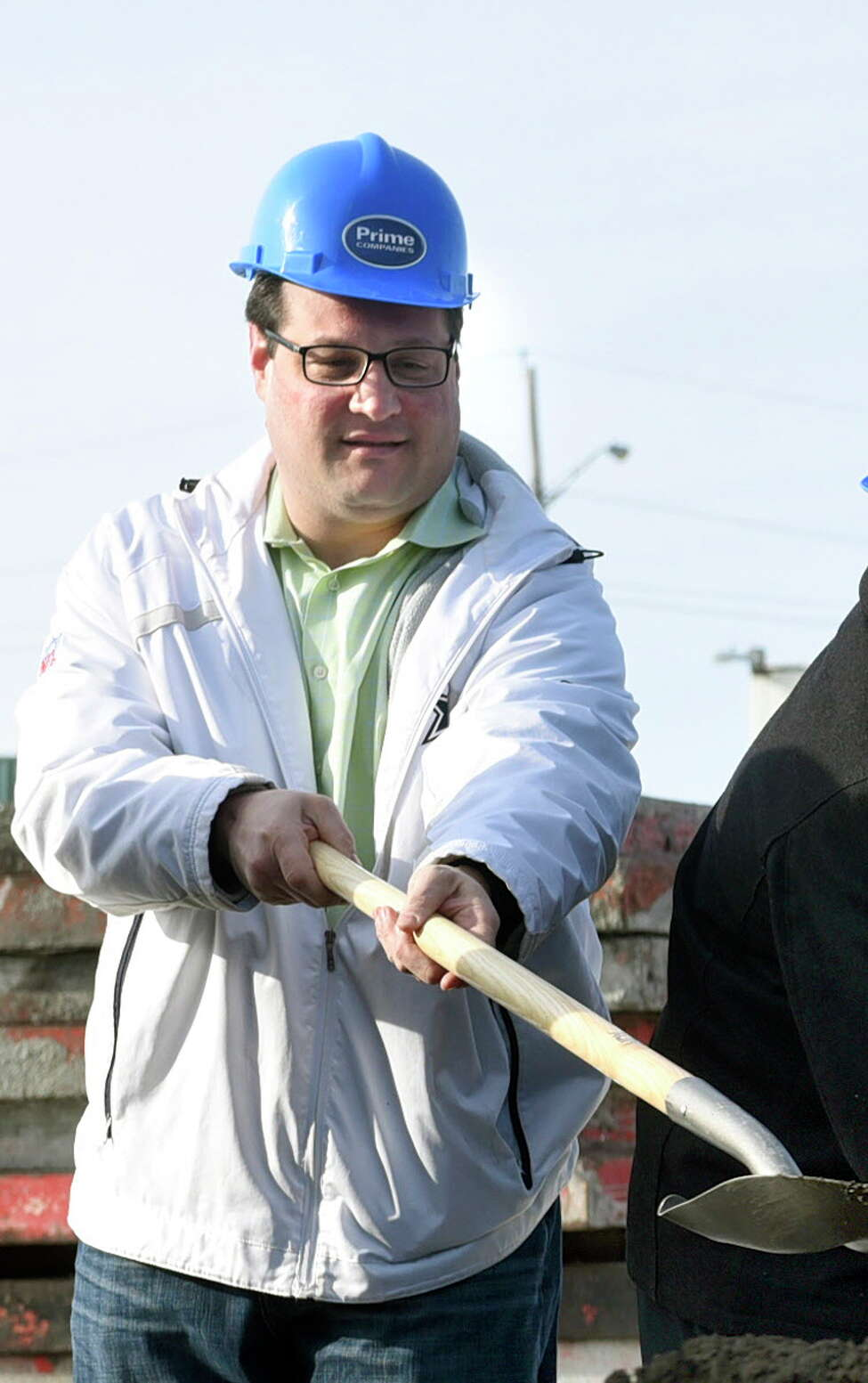 Ralph Signoracci, chairman of Cohoes Industrial Development Agency, joins partners and subsidiaries of Prime Companies to break ground for the Hudson Square luxury apartment complex on Tuesday, Dec. 13, 2016, in Cohoes, N.Y. Federal agents visited the Kosciusko Avenue residence of the city?s director of operations, Ralph V. Signoracci, who was served with a federal grand jury subpoena, according to a person familiar with the investigative activities. (Cindy Schultz/Times Union archive)
