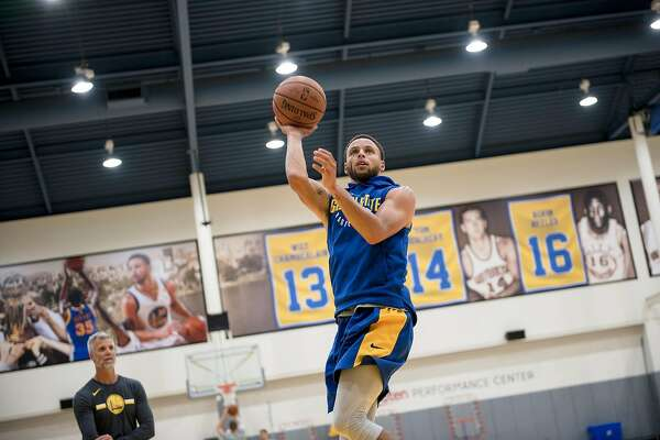 buy online 218f7 a8dc0 2of5Stephen Curry shoots during a practice at the Golden State Warriors  Rakuten Center in Oakland, Calif., on Wednesday September 26, 2018Photo   Michael ...
