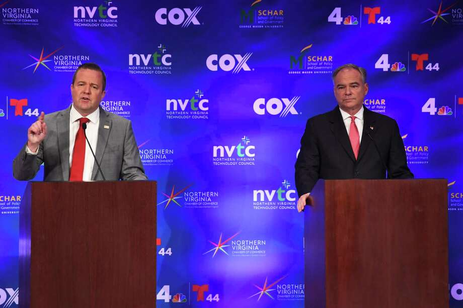 Debate turns ugly fast, with Stewart making unfounded claims against Kaine