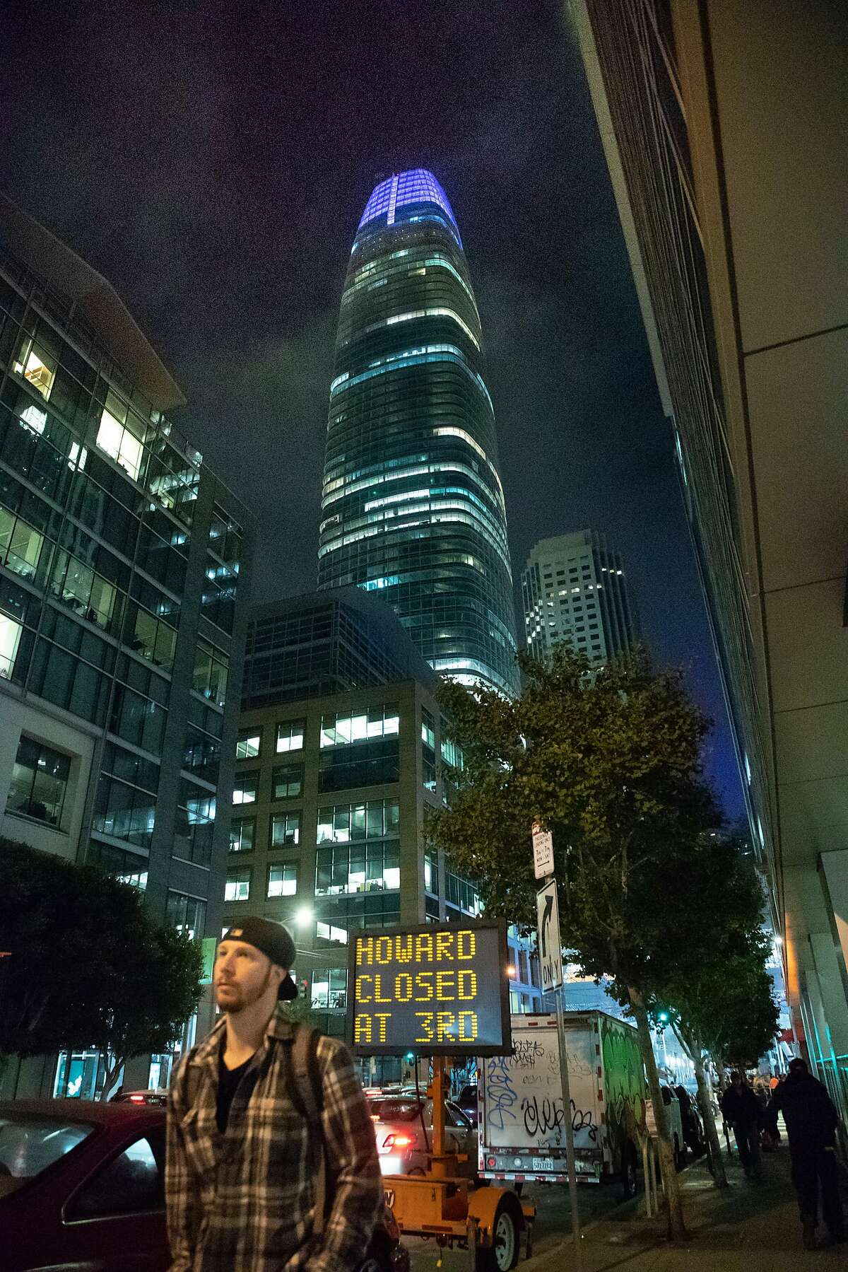 A traffic sign at Fremont and Howard Streets on Wednesday, Sept. 26, 2018, in San Francisco, Calif.